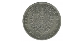 5 Marks Guillaume Ier - Allemagne Prusse Argent