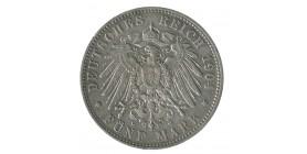 5 Marks Georges Ier - Allemagne Saxe Argent