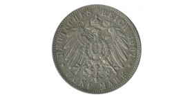 5 Marks Frederic Auguste III - Allemagne Saxe Argent