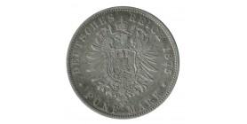 5 Marks Charles Ier - Allemagne Wurtenberg Argent