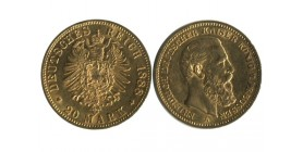 20 Marks Frederic III Allemagne - Prusse