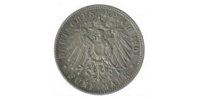 5 Marks Guillaume II - Allemagne Wurtenberg Argent