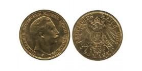 20 Marks Guillaume II Allemagne - Prusse