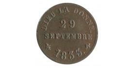 Médaillette de la Majorité d'Henri V 29/09/1833