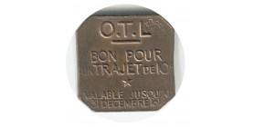 Jeton Bon Pour un Trajet de 10 Centimes Valable jusqu'au 31/12/18 Cuivre Rouge