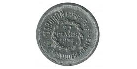 Jeton 20 Francs en Carton Galvanisé Marque Marie Daburon Frères