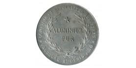 Médaille Comptoir des Spécialités Brévetés 86 Faubourg St Denis Aluminium Pur