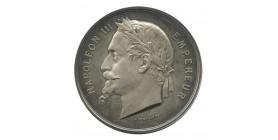 Médaille Napoléon III Exposition Universelle Argent