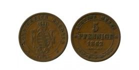 5 Pfennig Allemagne - Saxe