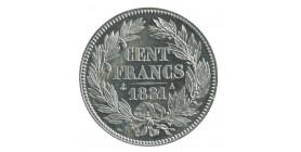 """100 Francs Louis-Philippe Ier Concours de 1830/31 Par """"Barre"""" Essai en Etain"""