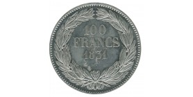 """100 Francs Louis-Philippe Ier Concours de 1830/31 Par """"Caque"""" Essai en Etain"""