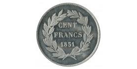 """100 Francs Louis-Philippe Ier Concours de 1830/31 Par """"Gayral"""" Essai en Etain"""