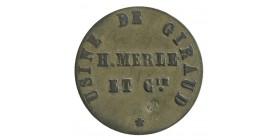 Bon de Vivres Usine de Giraud H.Merle Et Cie - Arles