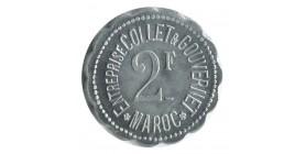 2 Francs Entreprise Collet et Gouvernet - Maroc