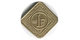 1 Franc Gand - Belgique Occupation Allemande