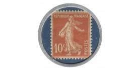 10 Centimes Semeuse Timbre Monnaie Crédit Lyonnais