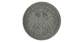 5 Marks Guillaume II - Allemagne Prusse Argent