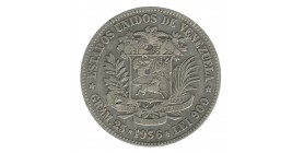 5 Bolivars - Vénezuela Argent