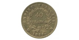 40 Francs Napoléon Ier Tête Laurée Revers Empire