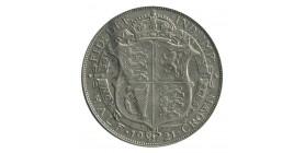 1/2 Couronne Georges V - Grande Bretagne Argent