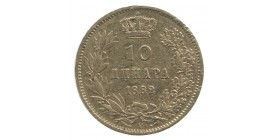 10 Dinars Obrenovitch IV - Serbie
