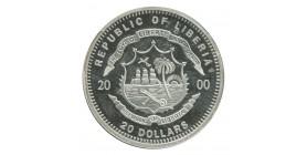 20 Dollars Mauretania - Libéria Argent