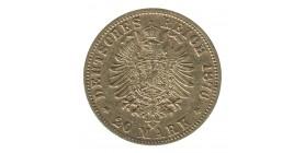 20 Marks Albert - Allemagne Saxe