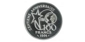 100 Francs Centenaire du Basket-Ball Lancer Franc