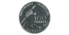 100 Francs Cinquième Jeu Paralympiques l'Oiseau Disloqué