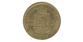 8 Forint / 20 Francs François Joseph Ier - Hongrie