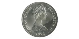 25 Dollars Iles Cayman Argent