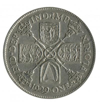 1 Florin Georges V - Grande Bretagne Argent