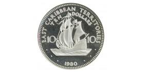 10 Dollars - Antilles Britanniques Argent
