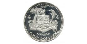 4 Dollars - Anguilla Argent