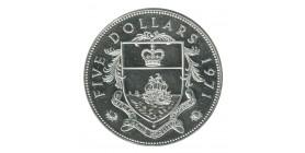 5 Dollars - Bahamas Argent