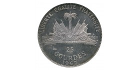 25 Gourdes Haïti Argent