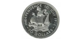 10 Dollars - Bahamas Argent