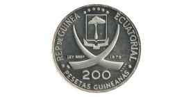 200 Pesetas - Guinée Equatoriale Argent