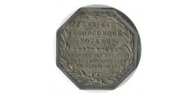 Jeton Notaires de Senlis Louis XVIII Argent