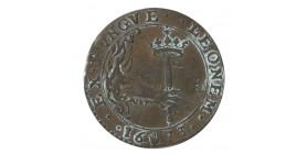 Jeton Duché de Brabant Charles II d'Espagne - Pays-Bas Espagnols Cuivre