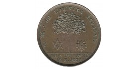 Médaille Maçonnerie l'Olivier Ecossais - Le Havre Bronze
