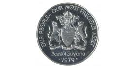 5 Dollars - Guyana Argent