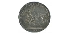 Jeton Late Cuncta Profundit Louis XIV Argent