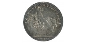 Jeton Late Cuncta Profundit Louis XV Buste Nu Argent