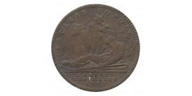 Jeton Parties Casuelles Mercure et Argus Louis XV Bronze
