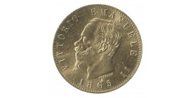 20 Lires Victor Emmanuel II - Italie Réunifiée