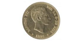 25 Pesetas Alphonse XII - Espagne