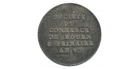 Jeton Société du Commerce de Rouen 8 Frimaire Argent