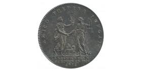 Jeton Corporation La Réunion des Marchands de Rouen Louis XV Argent