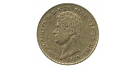 20 Lires Charles Albert - Italie Sardaigne